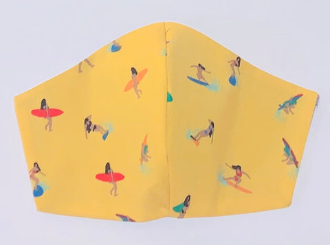 Surfer girls yellow - FACE MASK