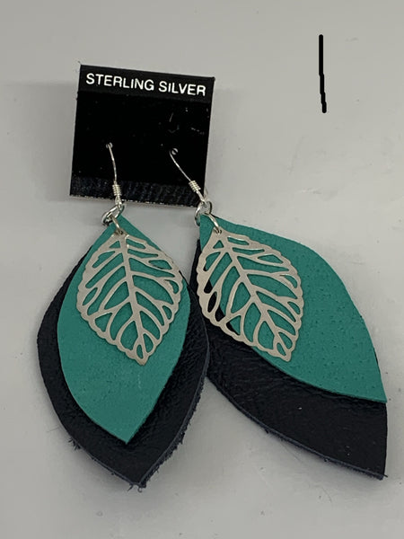 Leather Earrings - Layered Medium