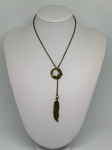 Loop-Thru Necklaces Antique Bronze