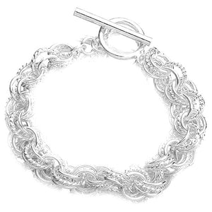 Plated Circle Silver Bracelet