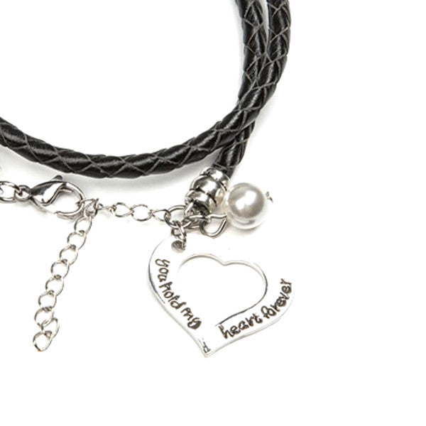 You Hold My Heart Forever Hand Stamped Bracelet