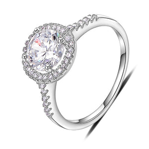 18K White Gold Plated Traditional Promise Ring