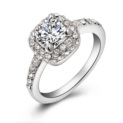 Cubic Crystal Promise Ring