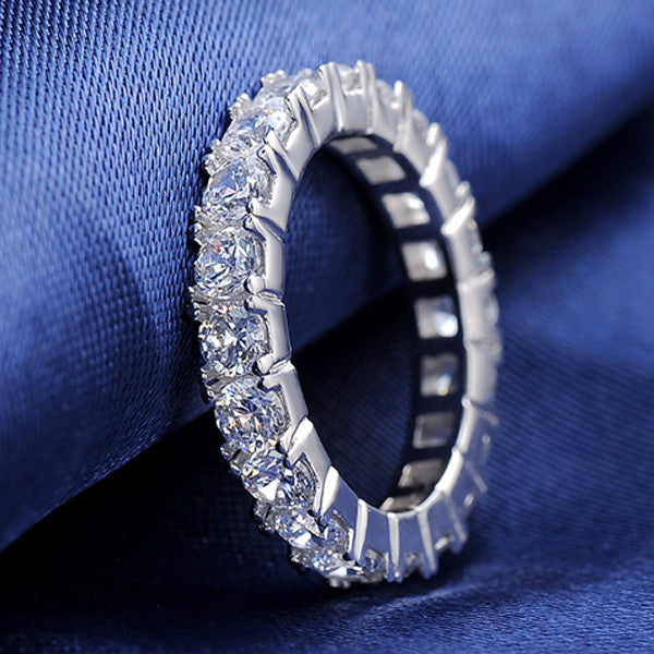 Luxury Crystal Eternity Ring