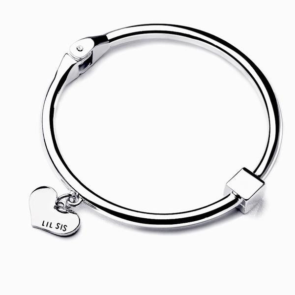 Big Sis Lil Sis Charm Bangle Set