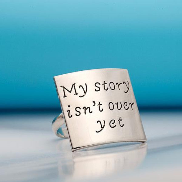 My Story Isn't Over Yet Adjustable Ring