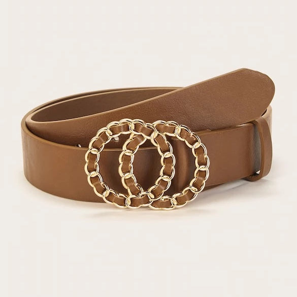 Chanel-Ish Belt - Brown
