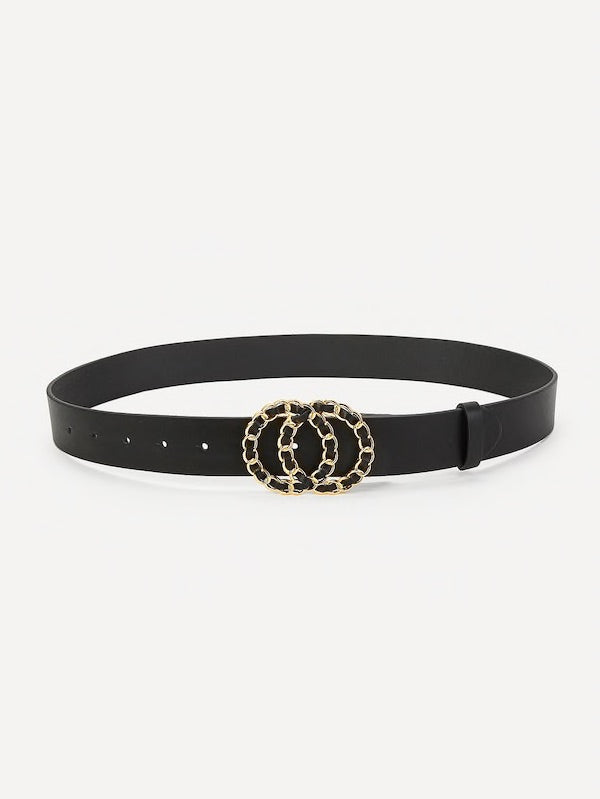 Chanel-Ish Belt - Black