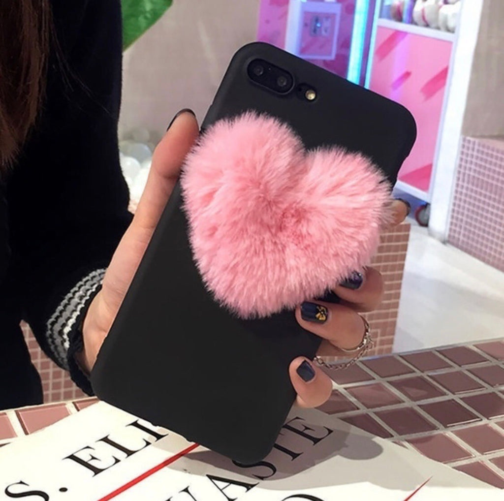 Fur Heart Phone Case