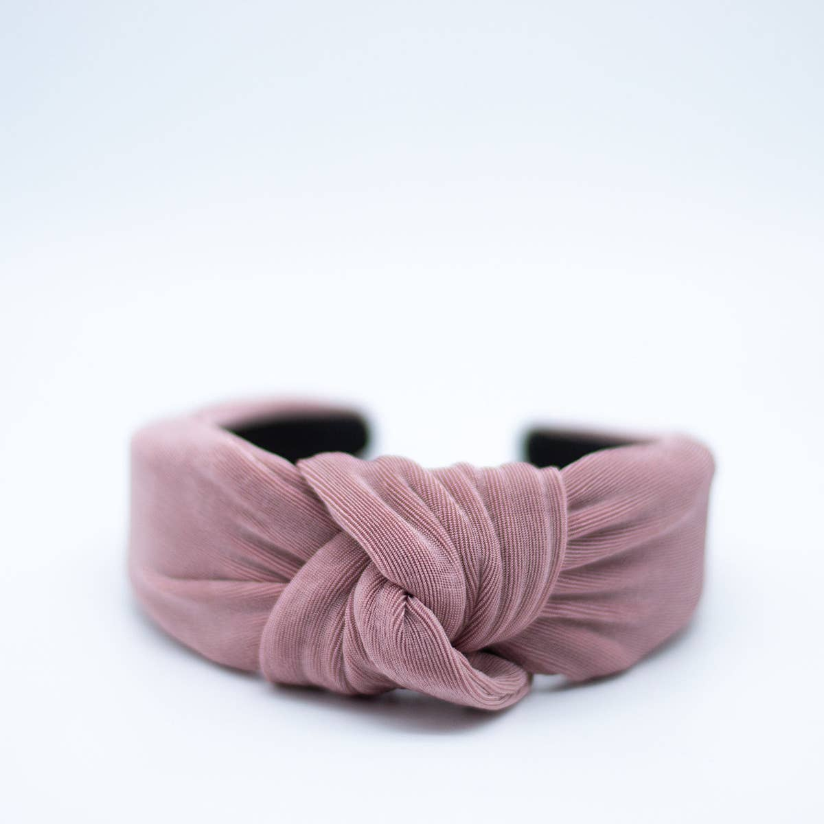 knotted headband in mauve