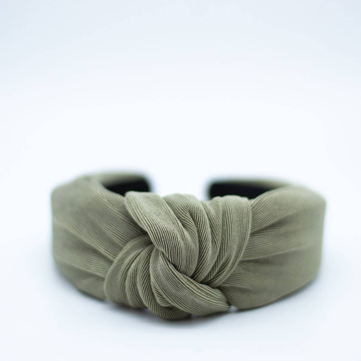 knotted headband in olive