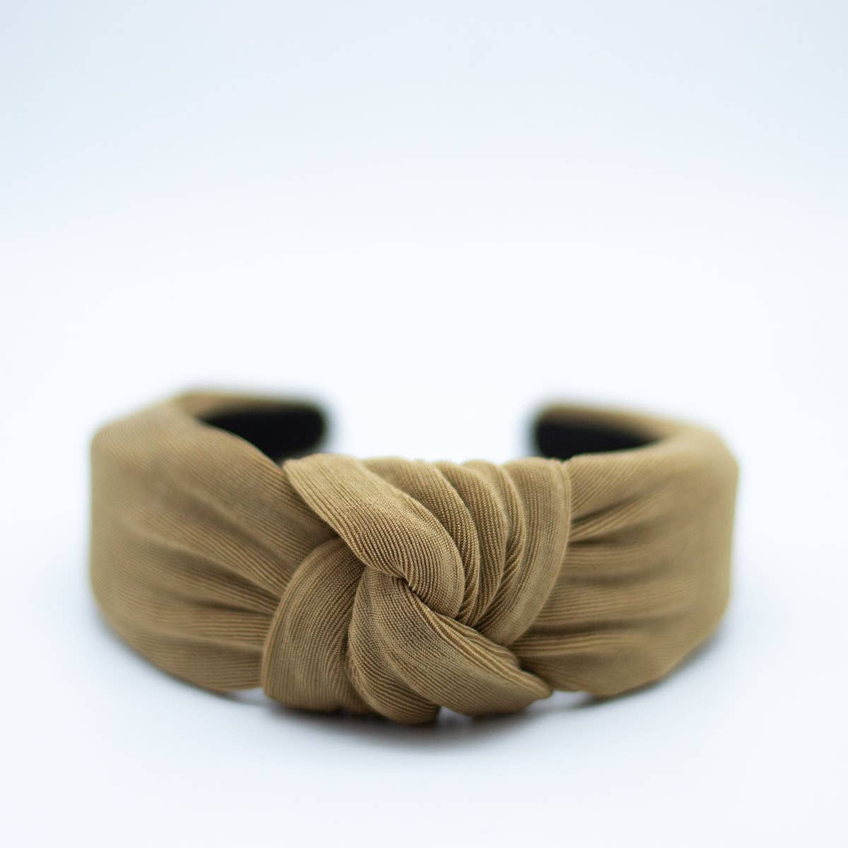 knotted headband in taupe