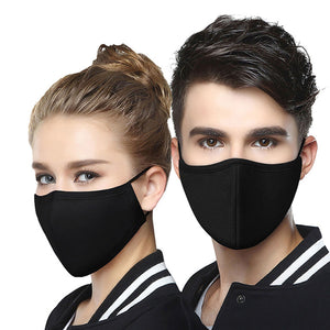 JOEDUCK 2 Pack Sanitary Masks for Dust Prevention for Medical Purposes, Unisex Cotton Face Mask Muffle Mask for Cycling Camping Travel for Kids Teens Men Women