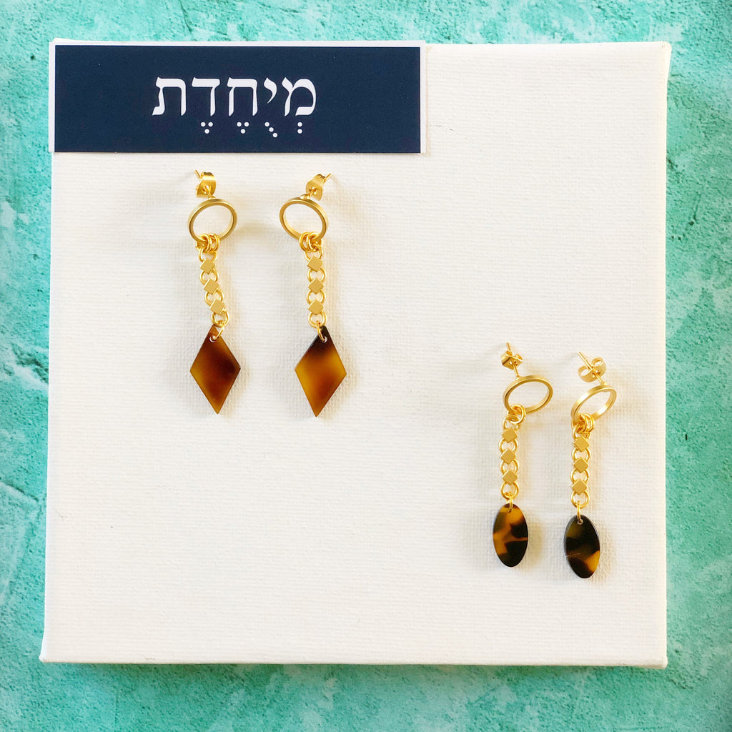 עגילי קמיליה - Orly Furman-Jewelry Design