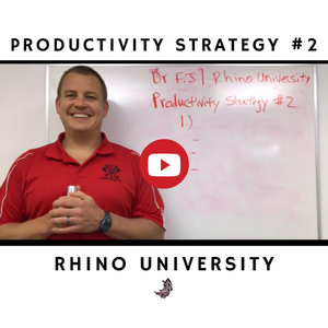 Rhino University EP 6: Productivity Strategy #2