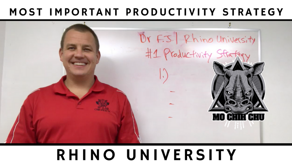 Rhino University EP 5: Most Important Productivity Strategy