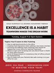 CA WEBINAR: Excellence Is A Habit