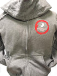 Kids Gray Zip Up Hoodie