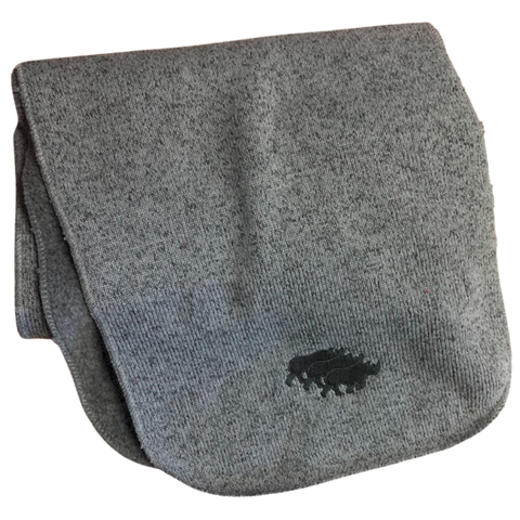 Gray Fleece Rhino Scarf