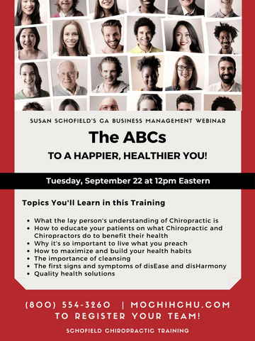 CA WEBINAR: The ABCs to a Happier, Healthier You