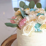 Rustic Edges - Pastel Petals & Gold