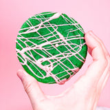Pandan Strawberry Drizzle cookies