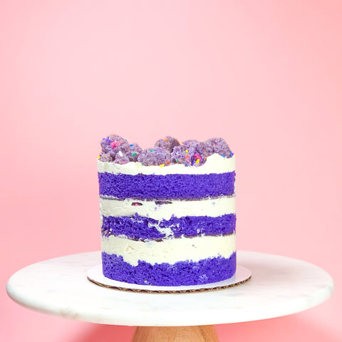 Ube Cookie Crumble Cake