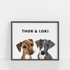 Custom Pet Posters | Illustrated With Your Digital Photos