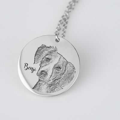 Custom Dog Necklace | Necklace With Your Dog Engraved