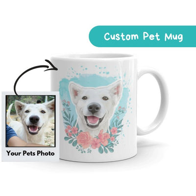 Custom Hand Drawn Pet Mug - Stray Faces