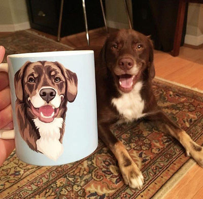 Custom Pet Portrait Mug - Stray Faces