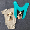 Custom Pet Portrait Baby Jumper - Stray Faces