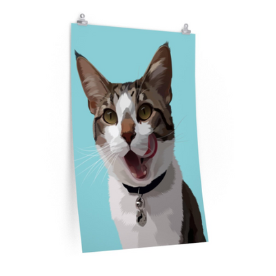 Custom Pet Portrait Poster Print - Stray Faces
