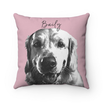 Custom Sketch Pet Photo Pillow - Stray Faces