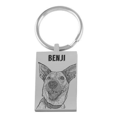 Custom Pet Keychain - Stray Faces