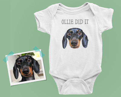 Custom Pet Photo Baby Jumper - Stray Faces