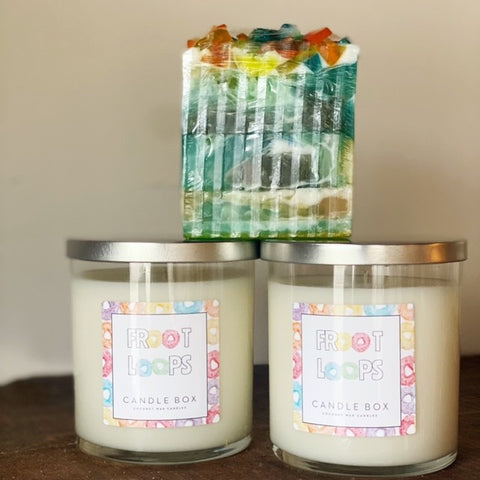 Froot Loops Candle