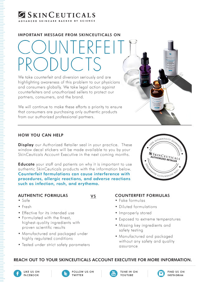 How To Identify Counterfeit SkinCeuticals Products