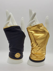 Sun Protection Gloves- SPF 50+ Reversible Black/Gold (Non-Refundable)