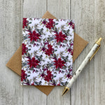 LOFT-1061 Poinsettia Christmas Card-Blank