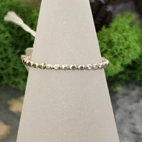 HHS-10 Sterling Silver Pattern Ring Size 8