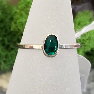 HHS-14 Sterling Silver Sm. Gemstone Ring Size 6