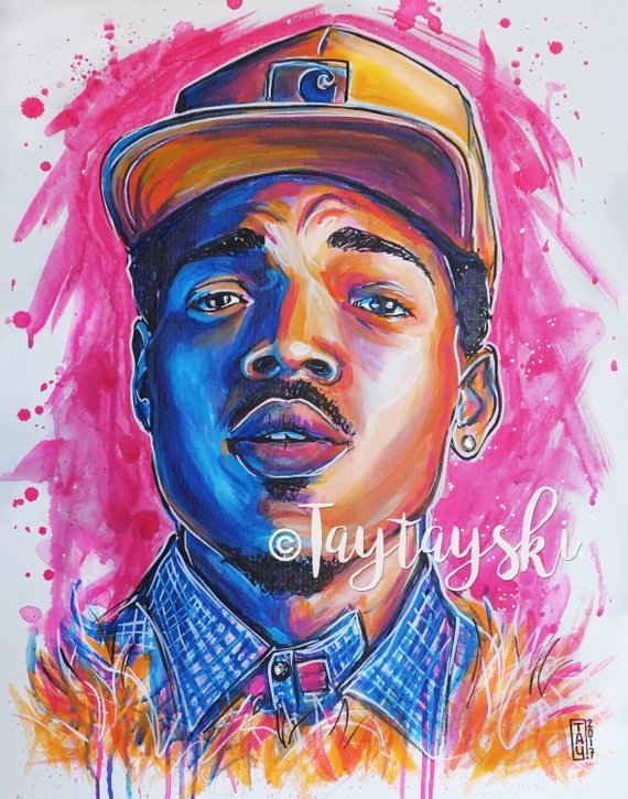 TAY-4 11x14 Chance The Rapper Print