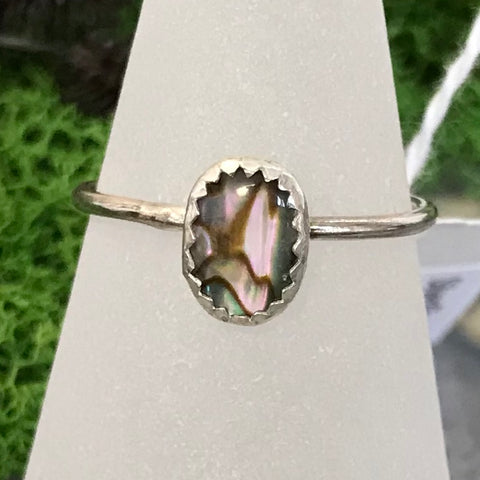 HHS-22 Sterling Silver Lg. Gemstone Ring Size 8