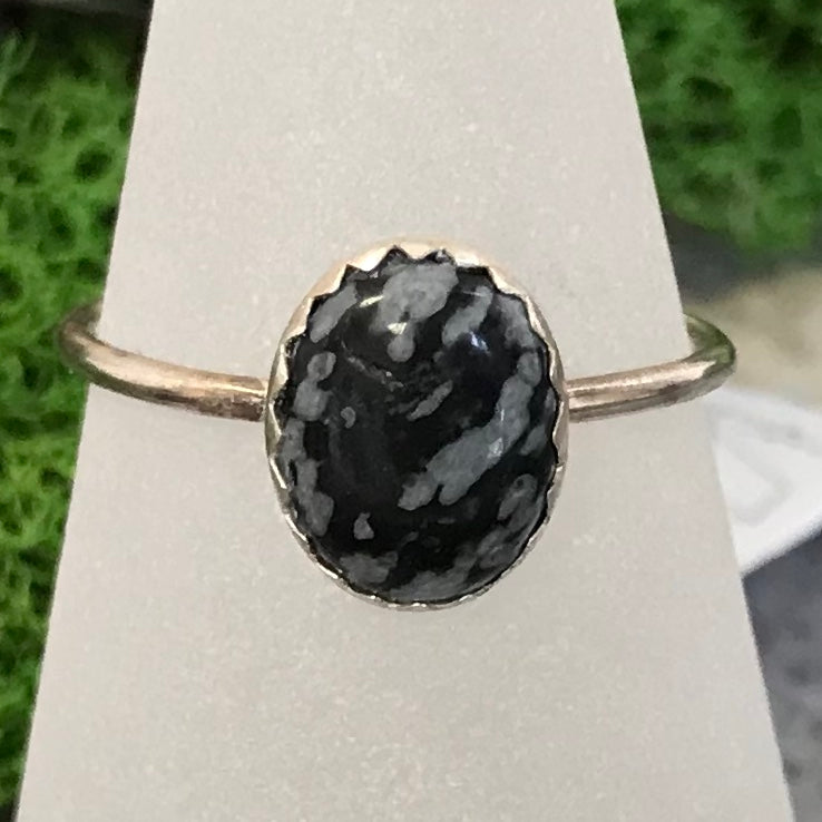HHS-23 Sterling Silver Lg. Gemstone Ring Size 9