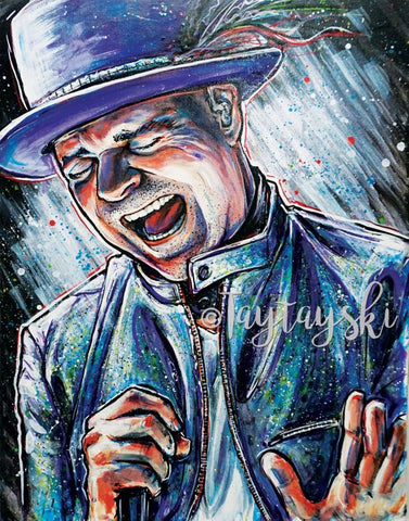 TAY-52 11x14 Gord Downie Print- Take Two The Tragically Hip