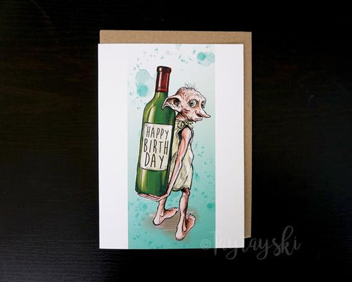 TAY-43 Dobby Birthday Cards & Envelopes