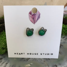 Load image into Gallery viewer, HHS-25 Cat Ear Studs-Niobium