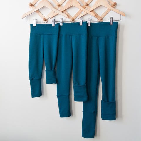 TPP-03 Teal SOLID Grow Along Pants 3m-12m