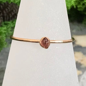 TMD-38 Gold Filled Raw Stone Ring Size 10